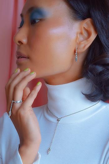 Champakali Inspired Drop Earrings in 925 Silver