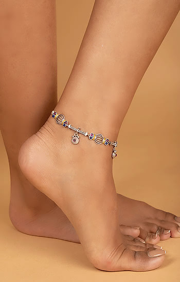 Dhol Motif Single Anklet