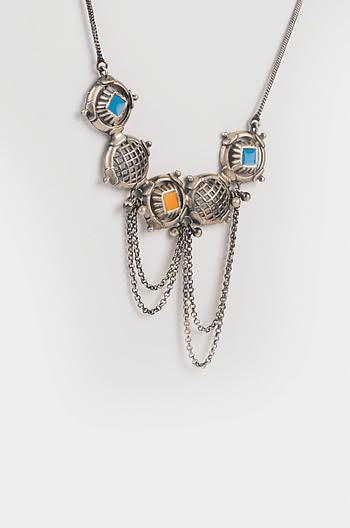Antique Pash Sculpture Necklace