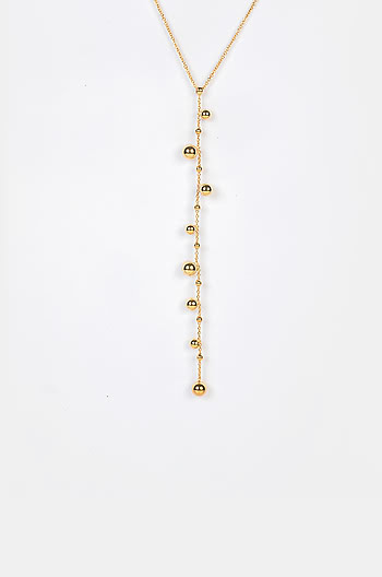 Last Friday Night Necklace in Gold Plating