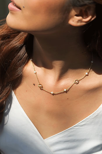 Play Harder Necklace in Gold Plated 925 Silver