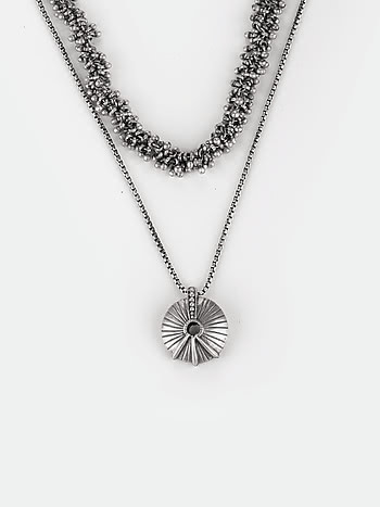 Antique Aachis Wedding Season Necklace in 925 Silver