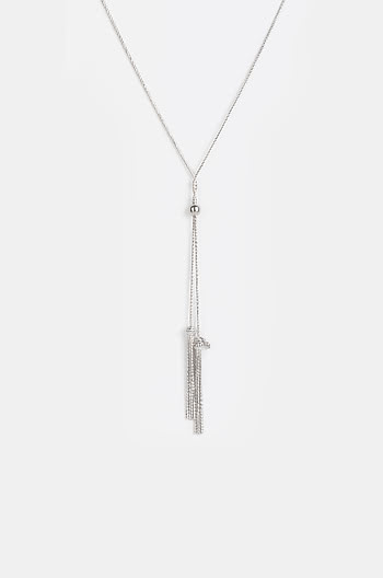 Good Thing Necklace in Rhodium Plating