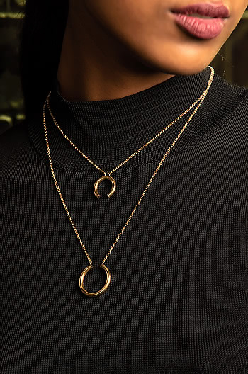 Handmade Heaven Necklace in Gold Plating