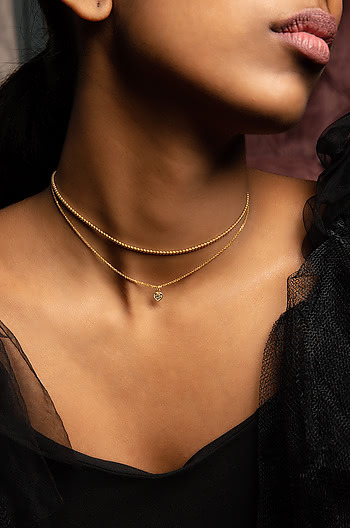 Hey Mama Choker in Gold Plating