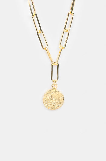 Rolling In It Necklace in Gold Plating