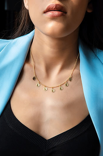 On a Dime Necklace in Gold Plating