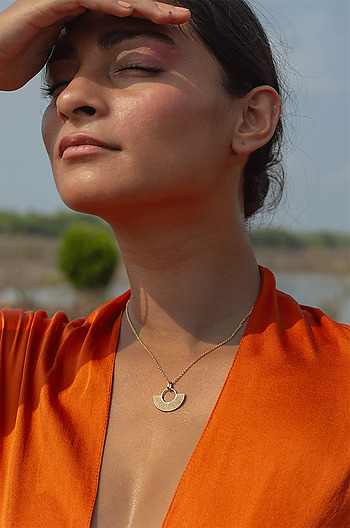 Good Vibes Necklace in Gold Plated 925 Silver