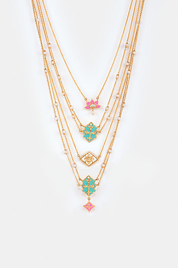 Baari Barsi Necklace in Gold Plated Brass