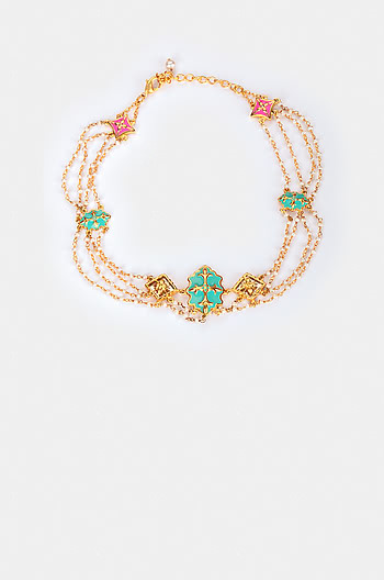 Aaja Nachle Necklace in Gold Plated Brass