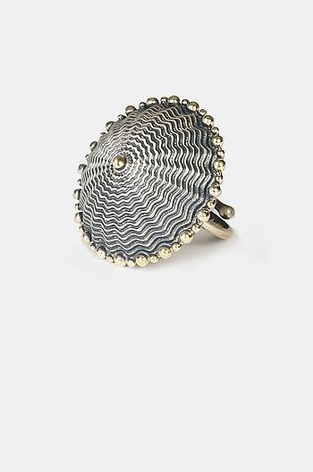 Antique Bhago Shield Ring