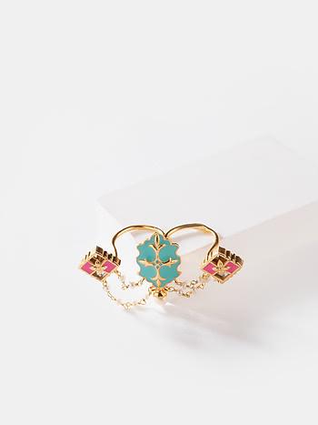 Baari Barsi Ring in Gold Plated Brass