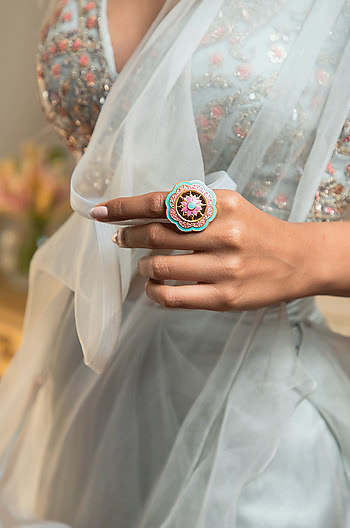 Genda Phool Ring in Gold Plated Brass