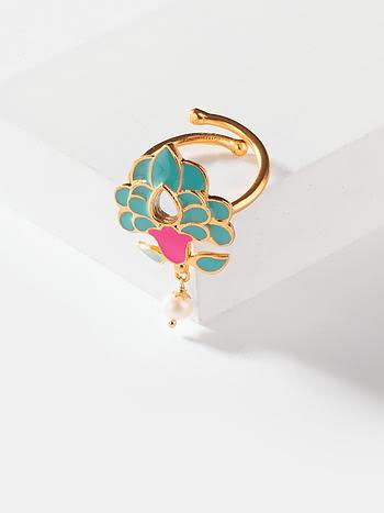 Sadi Gali Ring in Gold Plated Brass