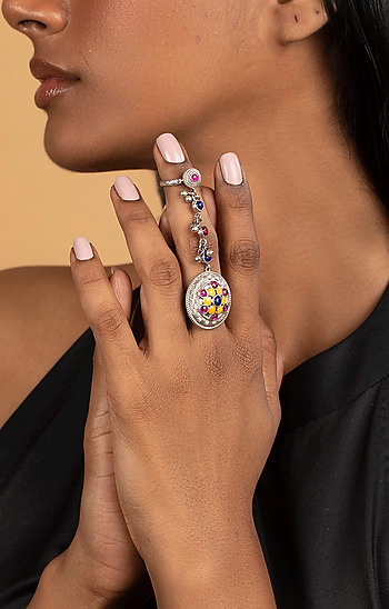 Phulwadi Work Knuckle Ring