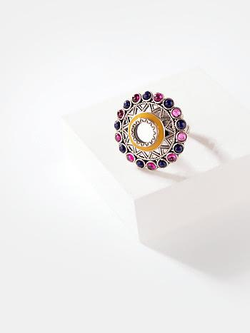 Ankhadiyo Vakadiyo Pattern Ring in 925 Silver