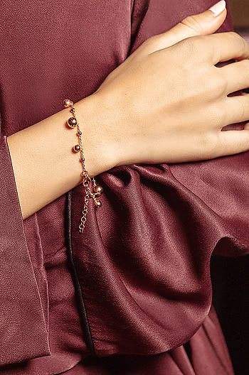 Spotlight Bracelet in Rose Gold Plating