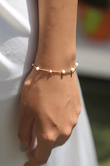 Play Harder Bracelet in Gold Plating