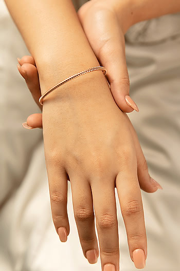 Dig It Bracelet in Rose Gold Plating