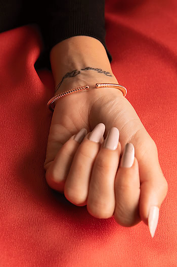 Dig It Bracelet in Rose Gold Plating