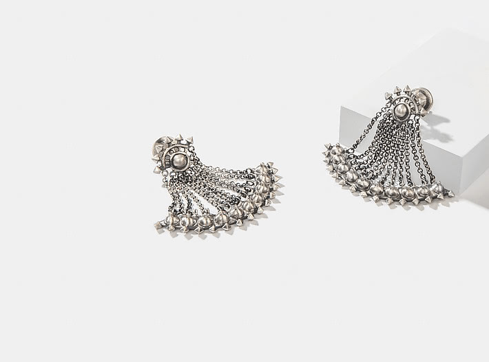 Antique Gaidinlu Axe Earrings