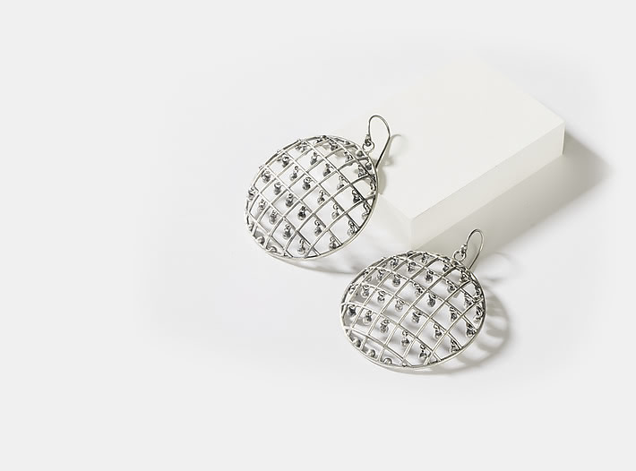 Antique Sugandha Shield Earrings