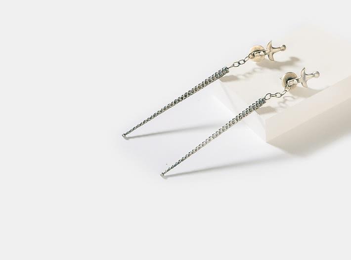 Antique Arati Sword Earrings