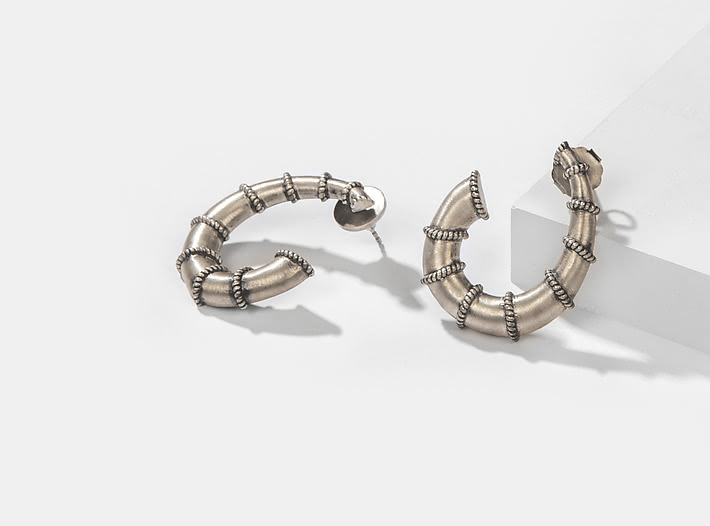 Antique Achintya Pillar Earrings