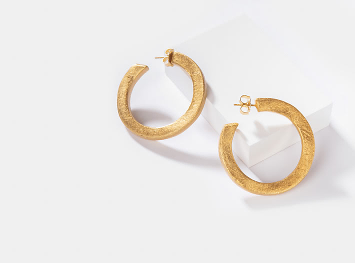 Kerry W Hoops in Gold Plating