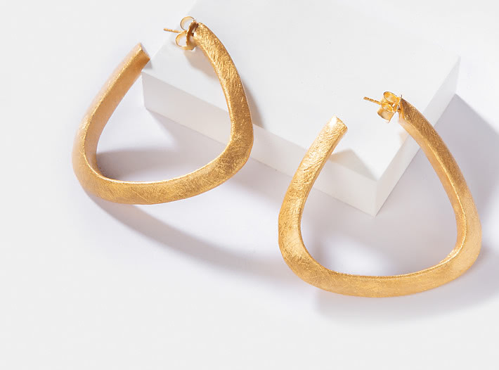 Jessica A Hoops in Gold Plating