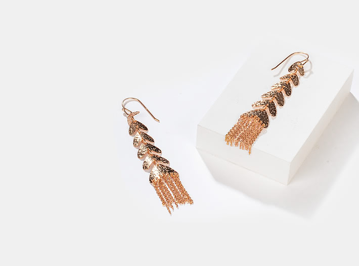 Rainbowland Earrings in Rose Gold Plating