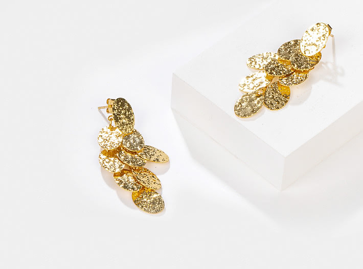 Younger Now Earrings in Gold Plating
