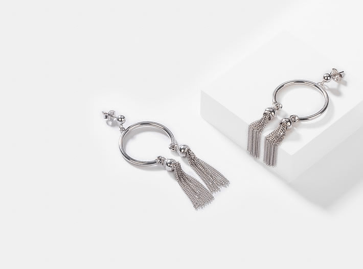 Good As Hell Earrings in Rhodium Plating