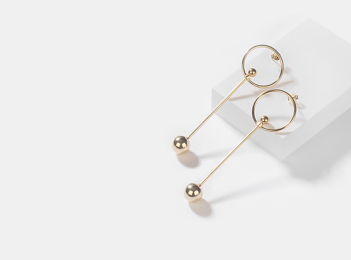 Girl On Fire Earrings in Gold Plating