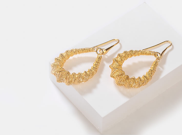 Just Dance Earrings in Gold Plating