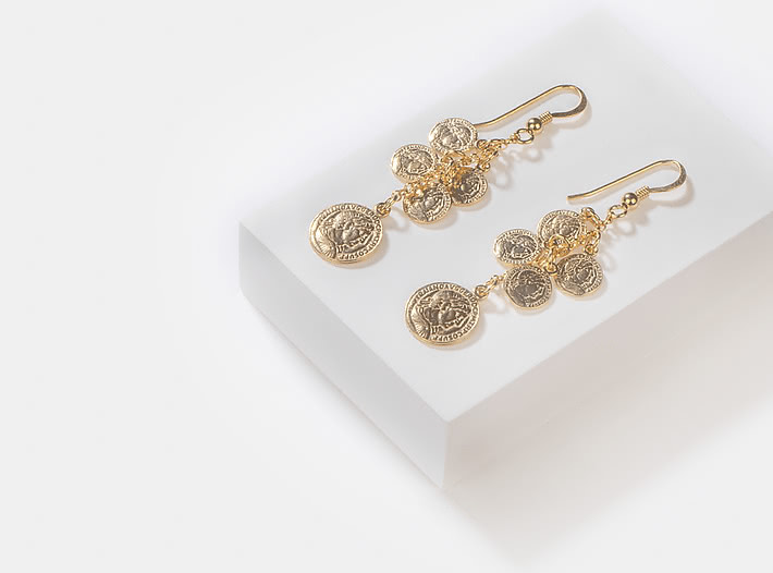 All In Earrings in Gold Plating