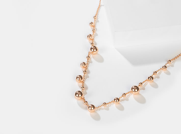 Dance Again Necklace in Rose Gold Plating