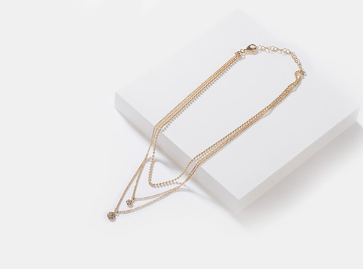 Say My Name Choker in Gold Plating