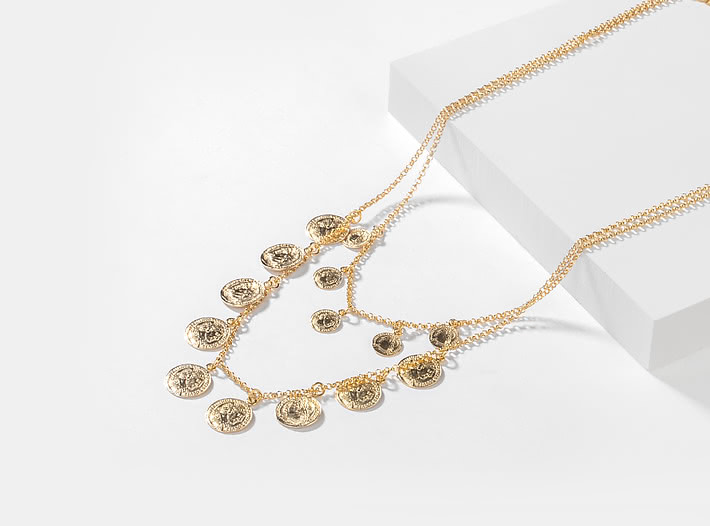 All In Necklace In Gold Plating