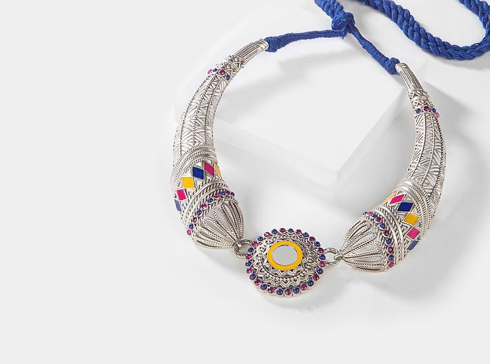 Ankhadiyo Vakadiyo Pattern Necklace