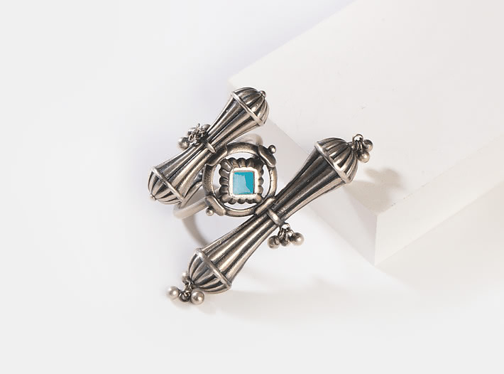 Antique Bhumiti Pole Ring