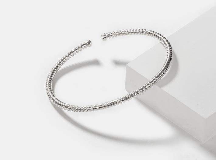 Dig It Bracelet in Rhodium Plating