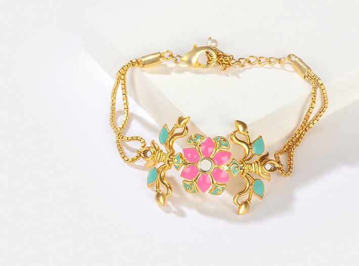 Gal Mithi Bracelet in Gold Plated Brass
