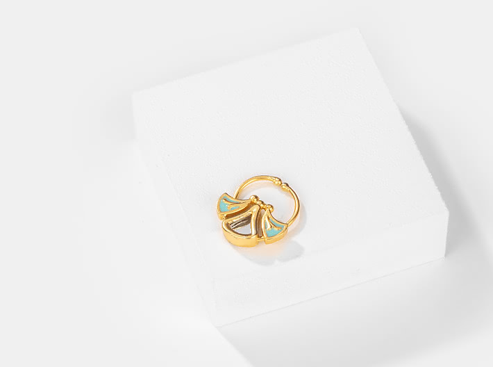 Chalka Re Septum Ring in Gold Plated Brass